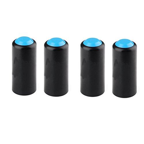 ULTNICE 4pcs Micrófonos Cubierta de la batería Micrófono inalámbrico Tornillo de la batería en la tapa Cubierta del micrófono para Shure PGX2 / 4SLX24 / SM58 / PG58 / BETA58 (Azul)