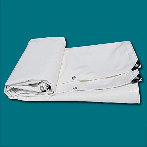 ZZHF pengbu Bâche, Camion extérieur imperméable et imperméable à l'eau de Protection Solaire de Couteau de PVC de bâche nettoyant Le Tissu (Couleur : Blanc, Taille : 5m*6m)