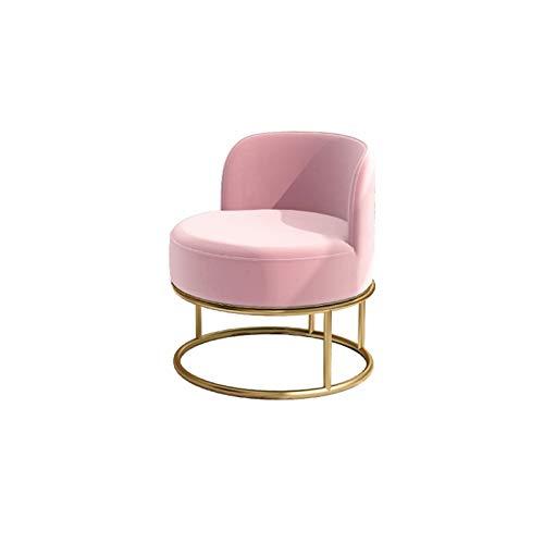 YANGDONG Sillón De Sofá Pequeño Pequeño, Diseño Simple Y Moderno, Cojines De Terciopelo Gris/Rosa, Adecuado para Muchas Escenas (Color : Pink)