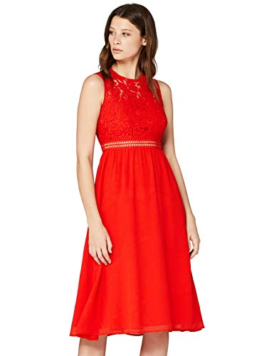 Amazon-Marke: TRUTH & Fable Damen brautkleid, Rot (Red Red), 34, Label:XS
