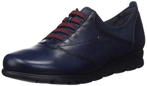 Fluchos Susan, Zapatos de Cordones Derby para Mujer, Azul (Sugar Nobuck Oceano Oceano), 39 EU