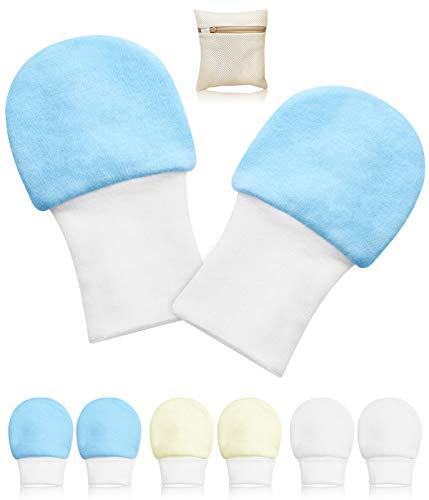 1 one enjoy 6 Paare Baby Handschuhe, Baby Neugeborene Handschuhe Babyhandschuhe Keine Kratzhandschuhe für 0-6 Monate Jungen Mädchen