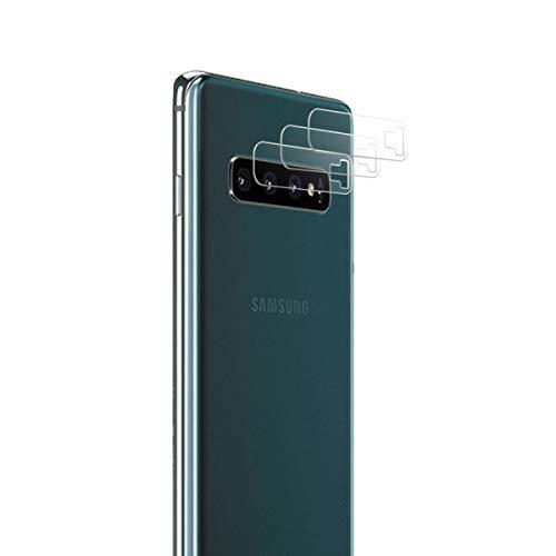 LONROL Protector de Pantalla de la Cámara para Samsung Galaxy S10 Plus 3-Pack 9H Anti-explosión Anti-rasguños Película Protectora de Lente de la Cámara de Vidrio Templado para Samsung Galaxy S10 Plus