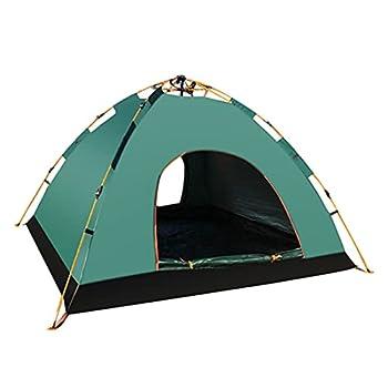 Lama Tente de camping automatique pour 1 à 2 personnes Étanche et protection UV Tente dôme instantanée avec piquets, haubans et sac de transport Vert 210 x 140 x 110 cm