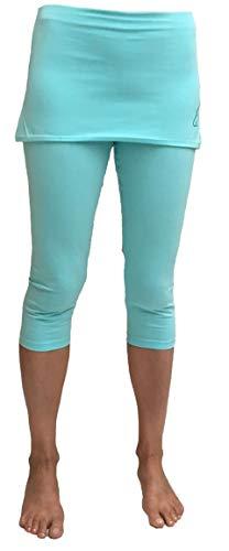 ESPARTO Pantalones de yoga 3/4 Thanda en algodón orgánico (Mint, XS)