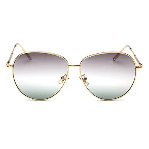 Sanzhileg Gafas de sol con montura de metal para mujer de diseño de marca popular, gafas de sol protectoras de viaje al aire libre UV400 ligeras para mujer