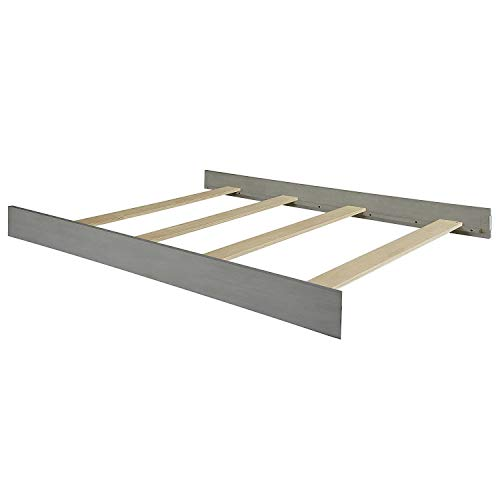 Full Size Conversion Kit Bed Rails Compatible with Oxford Baby Cribs (Arctic Grey)