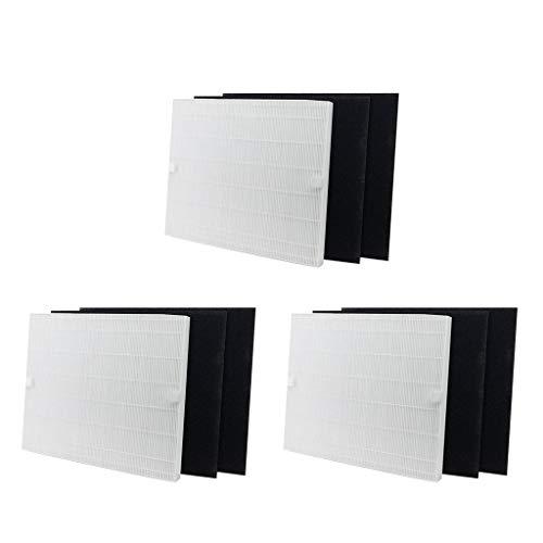perfk 9 Teiliges HEPA Filter Und Kohlefilter Ersatzteilset Für Coway AP 1512HH