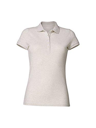 Damen Piqué Poloshirt | Frauen Polo Shirt S/Cream Heath