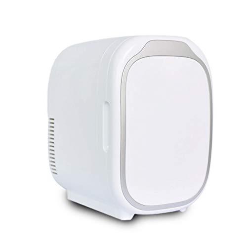 BYZHP Mini Nevera Mini Refrigerador Frigorífico portátil 6L Mini Coche Refrigerador Refrigerador de una Sola Puerta y más cálido para el Cuidado del Cuidado de la Piel al Aire Libre