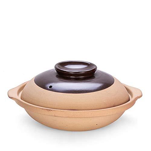 LJYLF Rétro Céramique Antiadhésif Casserole, Grande Capacité Ménage Marmite, Plat De Cocotte Non émaillé avec Poignée Et Couvercle, pour Cuisine Restaurants,1500ml