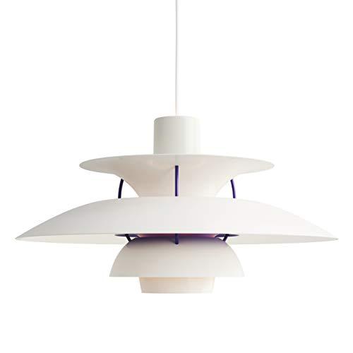 PH 5, Louis Poulsen, Lámpara de Suspensión Diseñada por Poul Henningsen (Blanco Classic)