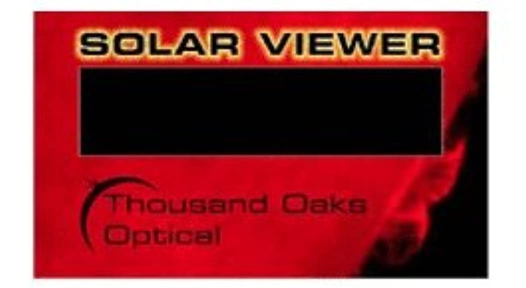 CA-50 - Hand-Held Black Polymer Film Solar Filter Viewer Cards (One pack of 50 each)