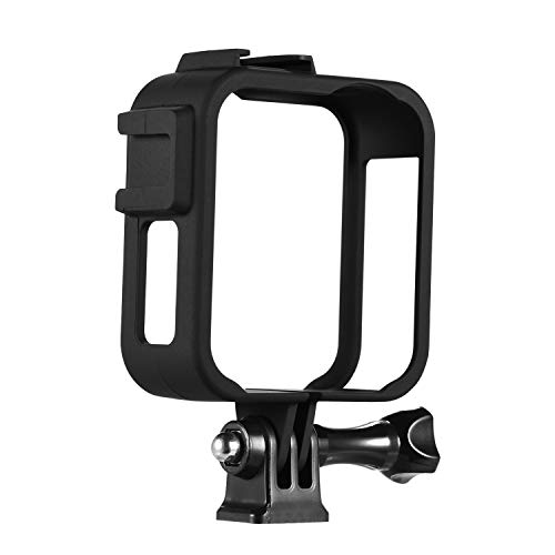 Andoer Action Camera case Camera Plastic Protective Frame Housing Vlog Cage with Dual Cold Shoe Mounts for GoPro Max Sports Camera