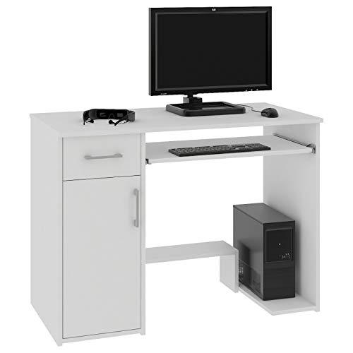 Megaastore - Escritorio para ordenador (90 x 74 x 50 cm), color blanco
