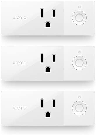 Wemo Mini Smart Plug 3-Pack, WiFi Enabled, Works with Amazon Alexa and the Google Assistant