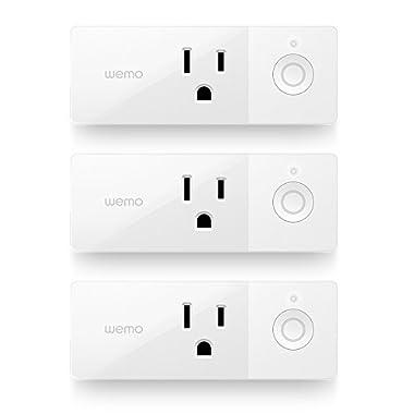 Wemo Mini Smart Plug 3-Pack, WiFi Enabled, Works Amazon Alexa The Google Assistant