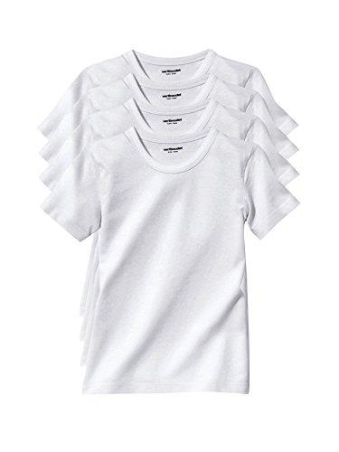 VERTBAUDET Lote de 4 Camisetas de Manga Corta niño Blanco 2A