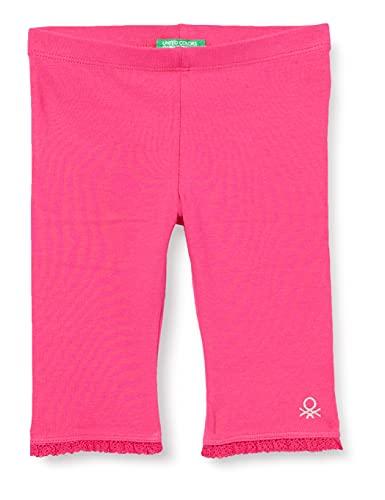 United Colors of Benetton (Z6ERJ Leggings 3MT1I0820, Fucsia 3l5, 1Y para Bebés