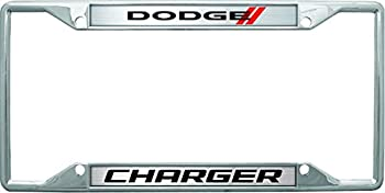 Eurosport Daytona- Compatible with - Dodge Charger with Stripes License Plate Frame
