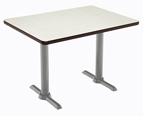 "KFI Seating Mode Multipurpose Table, 29"" H x 30"" W x 60"" D, Crisp Linen -  T3060-B2065-SL-CL"