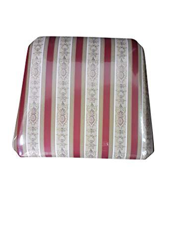 Set Sedute Sedile Imbottita, per Sedia Arte Povera, Ricambio, ricambi, 100% Made in Italy (Seduta, Imbottita Rossa, 4)