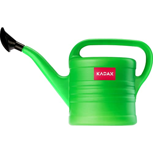 KADAX Gießkanne, Gartengießkanne aus Kunststoff für Innen- und Außenbereich, Bewässerung, Blumen, Zimmerpflanzen, Garten, Haus, Wohnung, Gartengeräte mit Brause (12L)