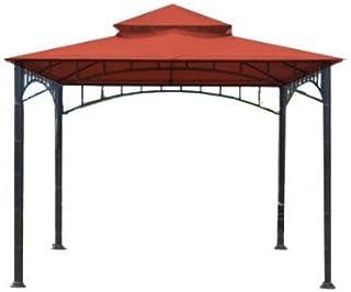 Garden Winds Replacement Canopy Top Cover for Madaga Gazebo - Riplock 350 - Terra Cotta