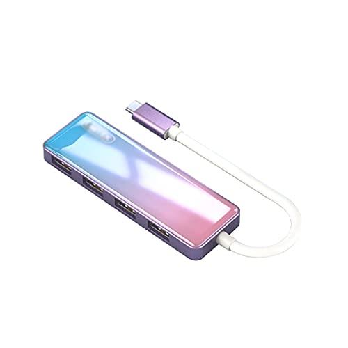 WYH Puertos USB 4 Puertos USB HUB Multi USB Expansor de Puerto Alta Velocidad USB Estación de Acoplamiento para portátil, USB Accionamientos Flash, y móvil. HDD USB Hub Multi