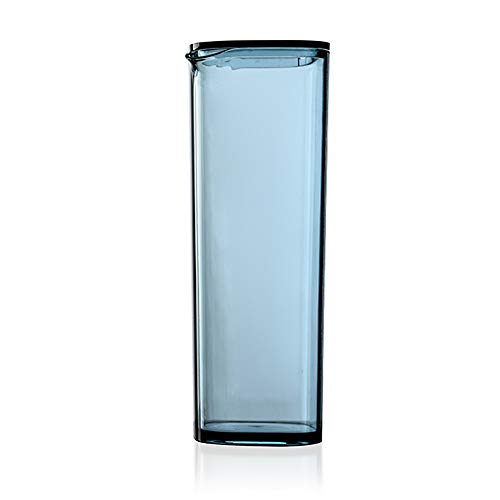 Koude Ketel Dispenser met Deksel - Plastic Hoge Temperatuur Resistant Water Fles Sap Jug Anti-Fall Melk Koffie Iced Tea Jug voor Restaurant Party(Blauw)