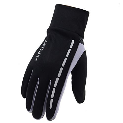 Bfmyxgs Mens Winter Therm mit Anti-Rutsch-Elastik-Manschette, Thermo-Soft-Lining-Handschuhe Outdoor Driving Herren-Sport-Fitness-Handschuhe