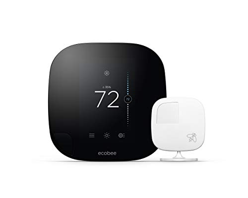 ecobee3 Thermostat with Sensor, Wi-Fi, 2nd Generation, Compatible with Alexa (Renewed)