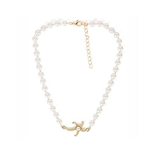 Collares de joyería para niñas personalidad perla estrella de mar collar collar