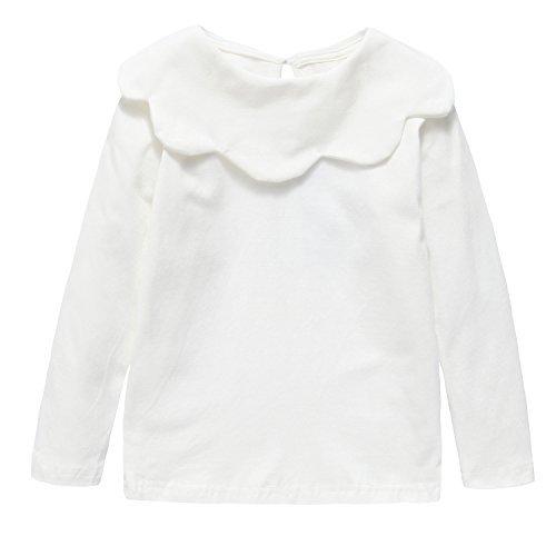 Baby Toddler Girl Tops Shirt, Cotton Bottom Long Sleeve Tees ,Beige,104cm (36-48M)