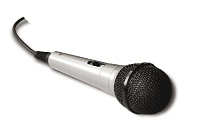 """DM-525 / EK-525 Professional Uni Directional dynamic wired microphone complete with connecting cables (6.35mm - 1/4"""" jack plug) - Silver / Black"""