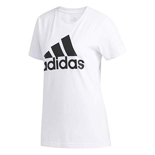 adidas Camiseta básica de Manga Corta para Mujer, Mujer, Manga Corta, GDO06, Blanco, S