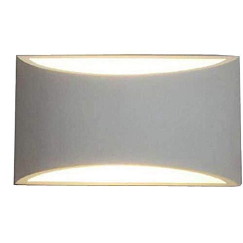JCZR Alliage D'aluminium LED Lampe De Mur Moderne Chambre Minimaliste Hôtel Lampe De Chevet Lampe De Couloir Couloir Escalier Allée,White-aluminum-160 * 100 * 77(mm)