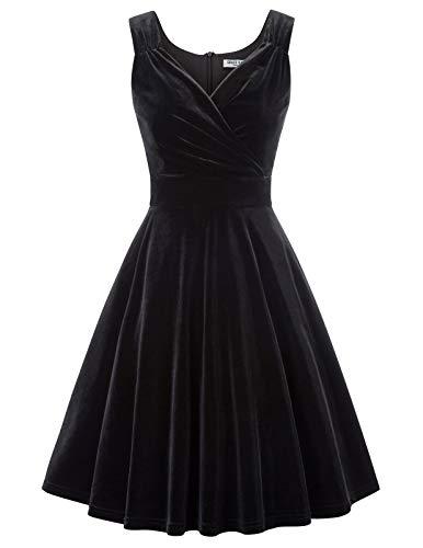 1950er Kleid Audrey Hepburn damenkleid 50s Kleid elegant Damen Partykleider Mode Kleid CL108-1 XL