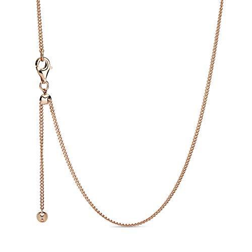Pandora Damen-Kette ohne Anhänger Silber_vergoldet 388283-60