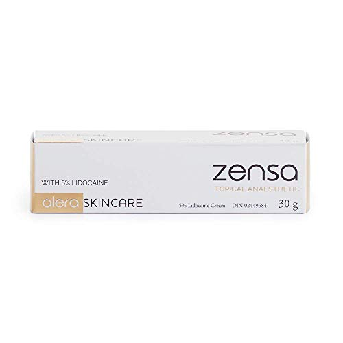 Zensa Numbing Cream 5% Lidocaine — Fast Acting Topical Anesthetic. Max Pain Relief for Tattoos, Piercings, Microblading, PMU, Microneedling, Injections, Waxing, Electrolysis & Non-Invasive Procedures