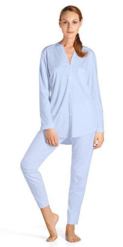 HANRO Damen Pyjama 1/1 Arm Pure Essence (0511 blue glow), Gr. XL