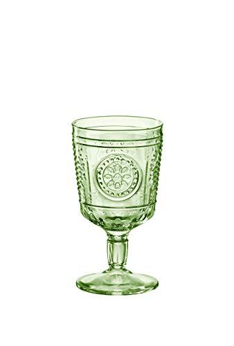 Bormioli Rocco Copas Romántic, cristal, verde