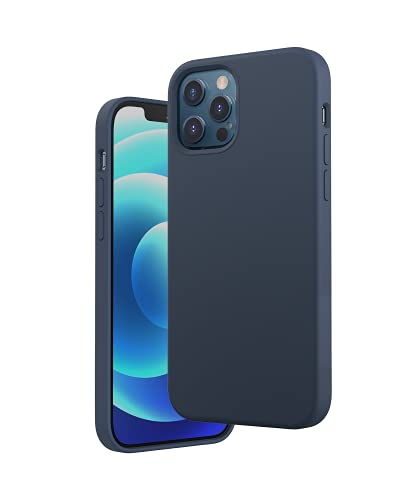 Anker Magnetic Silicone Case for iPhone 12 & 12 Pro (iPhone 12 & 12 Pro用MagSafe対応 ケース) ダークブルー