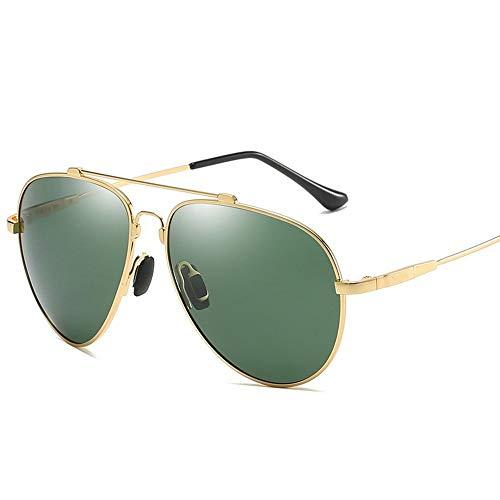 Stella Fella UV400 Oro Plata Negro Gafas Voladoras Gafas De Sol Polarizadas Espejo De Conducción Gafas for Hombre Conductor Espejo Rana De Conducción (Color : Gold)