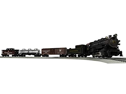 Lionel Pennsylvania Flyer LionChief 0-8-0 Freight Set with Bluetooth Capability, Electric O Gauge Model Train Set with Remote