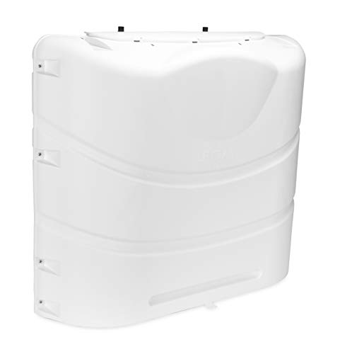 Camco 40559 Heavy-Duty 20lb or 30lb Dual Propane Tank Cover (Polar White)