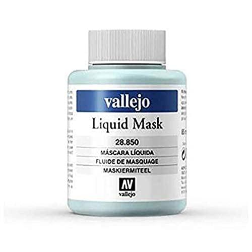 Acrylicos Vallejo Liquid Mask - Sostanza Utilizzata per le Aree di Riserva che Rimangono non Verniciate, 85 ml, Trasparente