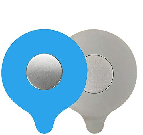 GCOA 2 Stück Badewannenstöpsel Ablaufstöpsel Silikon, Universalstöpsel Becken Waschbeckenstöpsel Abflussstopfen für Küche, Bad und Wäschereien (Blau,Grau)