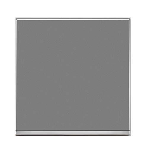 FSJKZX Interruptor De Luz Inicio Hotel Gris Metal Interruptor De Llave Grande Panel De Enchufe Control Único De Cuatro Posiciones De Tablero Plano Puro (Color : Gray, Size : 1)