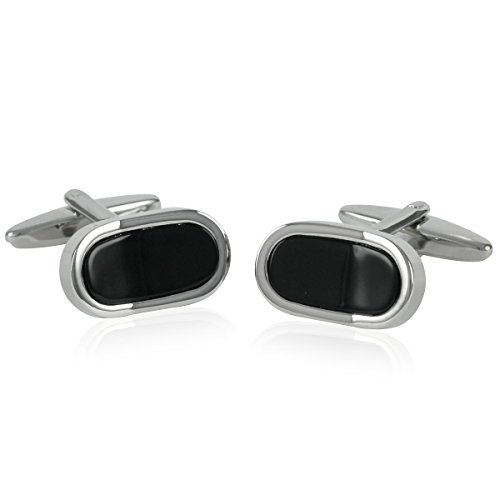 Boutons de manchette Homme George Chabrolle, Onyx,